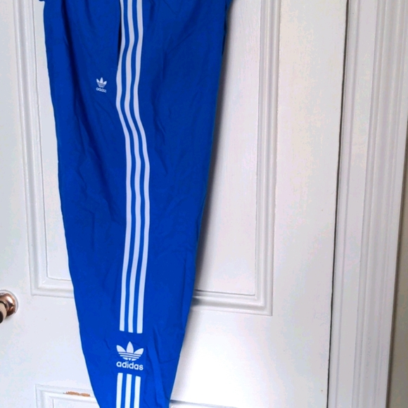 Adidas women's bright blue track pants